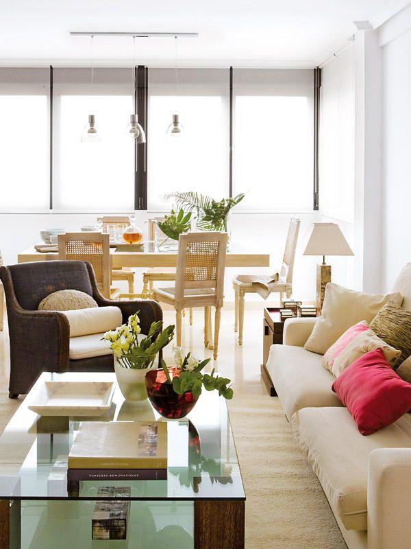 Ideas sofas para salon comedor estrecho y alargado casa for Ideas para salon comedor