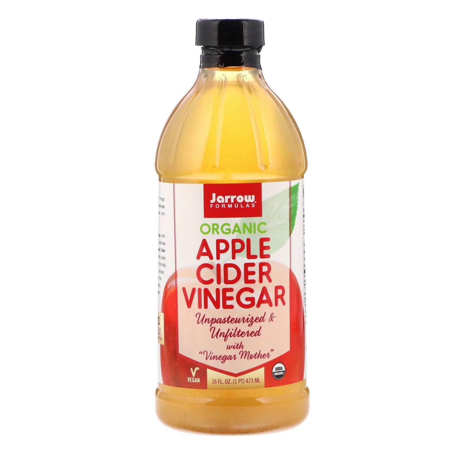 Jarrow Formulas خل عصير التفاح العضوي 16 أوقية سائلة 473 ملي Organic Apple Cider Organic Apple Cider Vinegar Apple Cider Vinegar