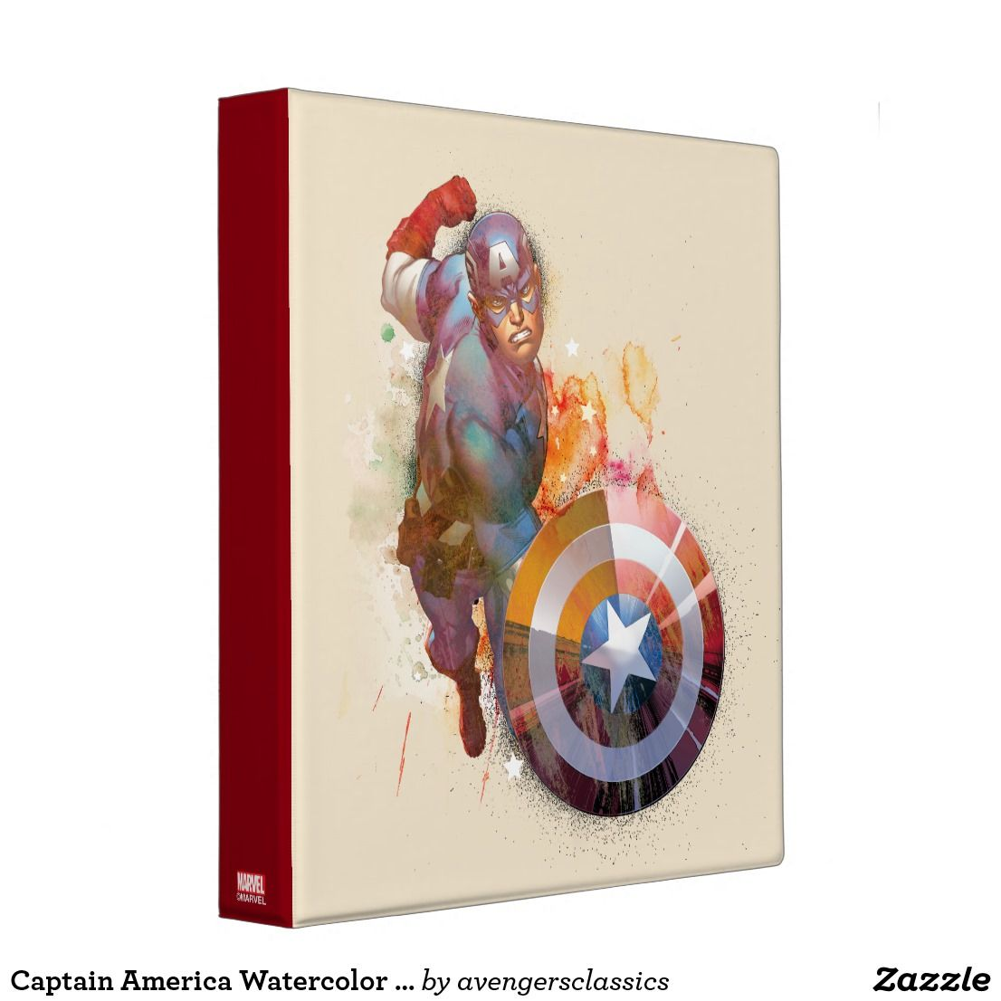 Captain america watercolor graphic 3 ring binder malvernweather Choice Image