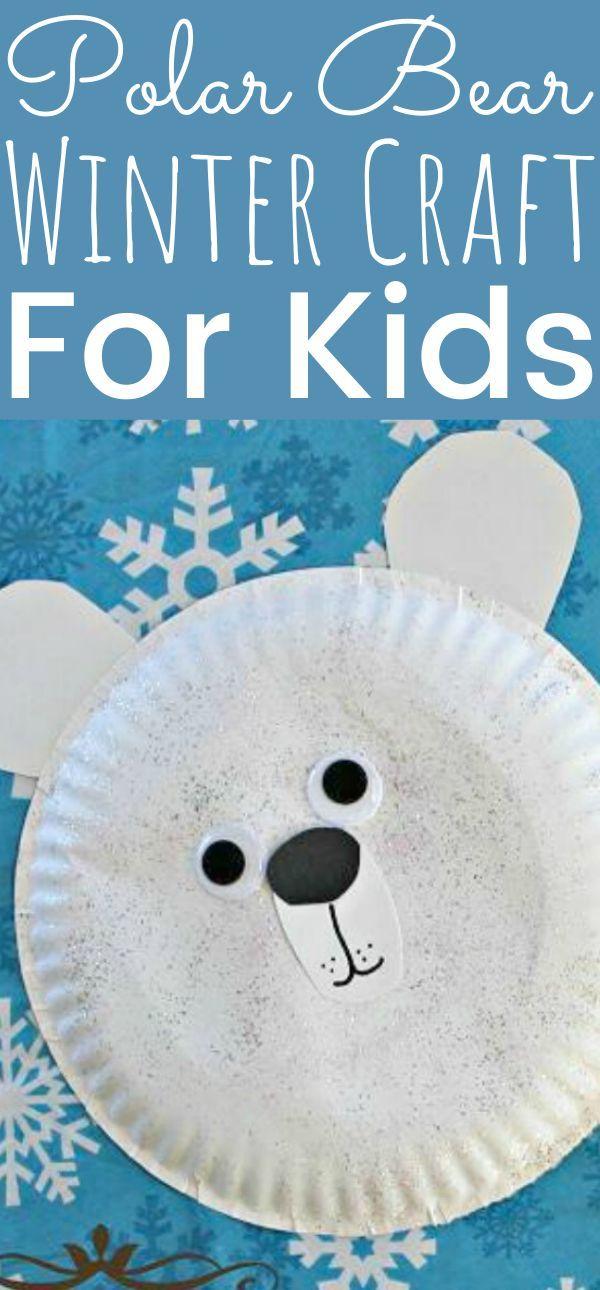 Polar Bear Winter Craft For Kids