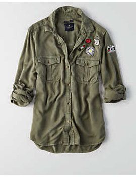 91e86c9979 aeo-patched-utility-pocket-shirt by american-eagle-outfitters.   onlineshopping  fashiontrend  stylish  shoptagr
