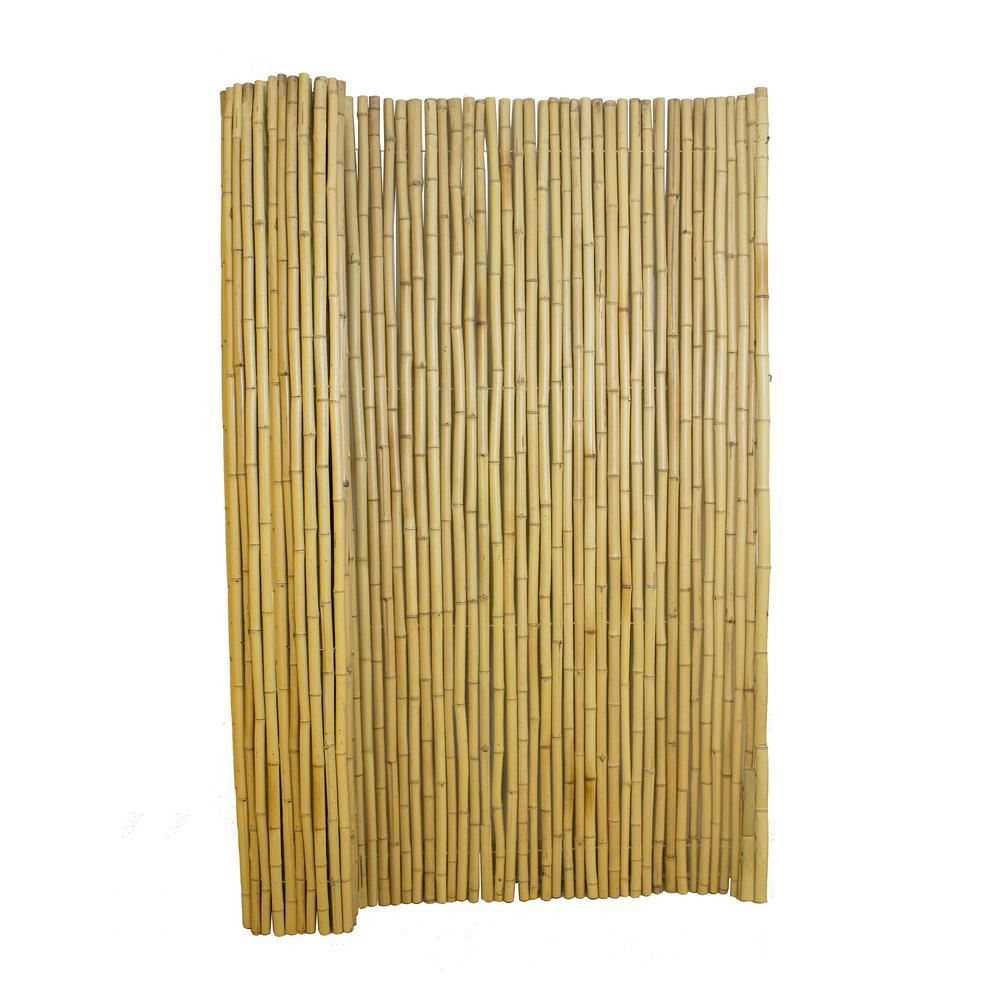 4 ft. H x 6 ft. W Natural Bamboo Fence4477405 The Home