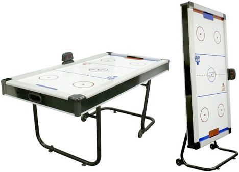 Space Saving Air Hockey Table Folds Away After Play Mark S Technology News Air Hockey Table Air Hockey Game Room