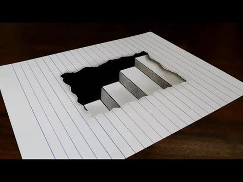How to Draw 3D Letter M - Drawing with pencil - Trick Art for Kids &