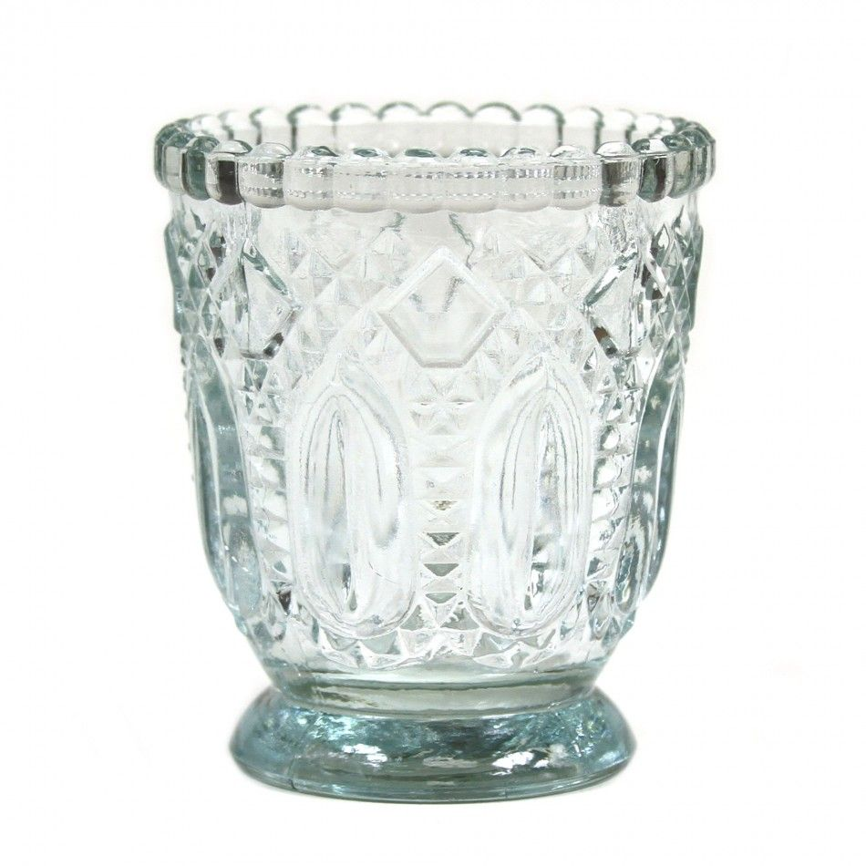 3 Vintage Glass Candle Holder, 6-Pack [424471] : Wholesale Wedding ...