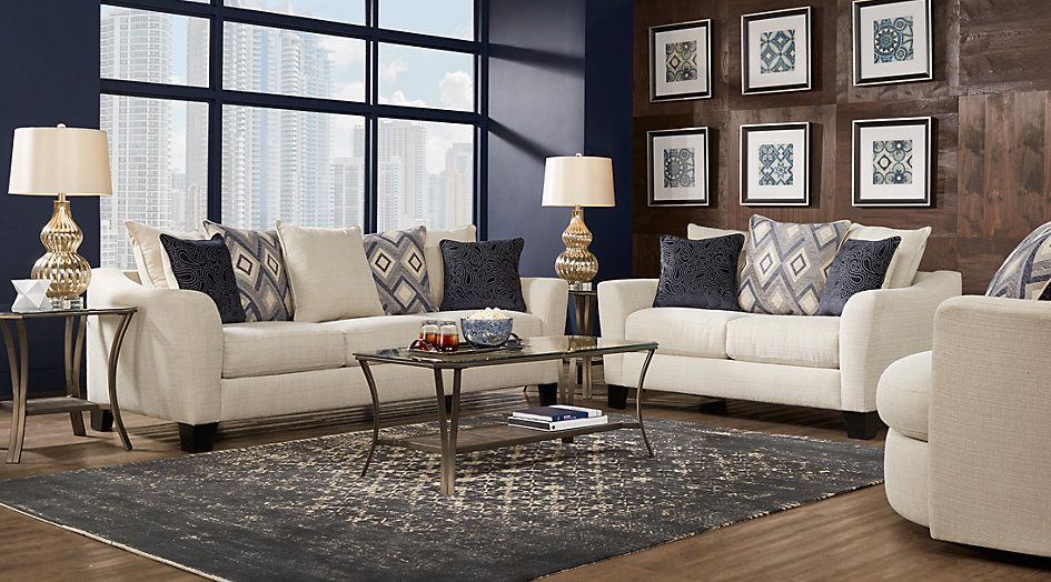 Affordable Living Room Designs Cool Deca Drive Cream 7 Pc Living Room From Furniture  Sweet Home Inspiration