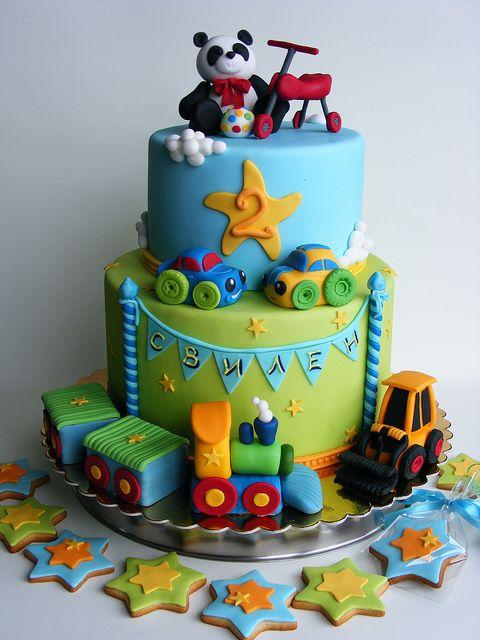 Favourite toys cake