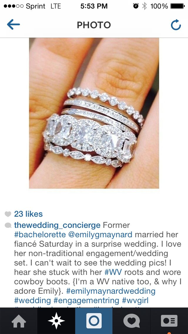 Superbe Amazing Wedding Bands On Former Bachelorette Emily Maynard.
