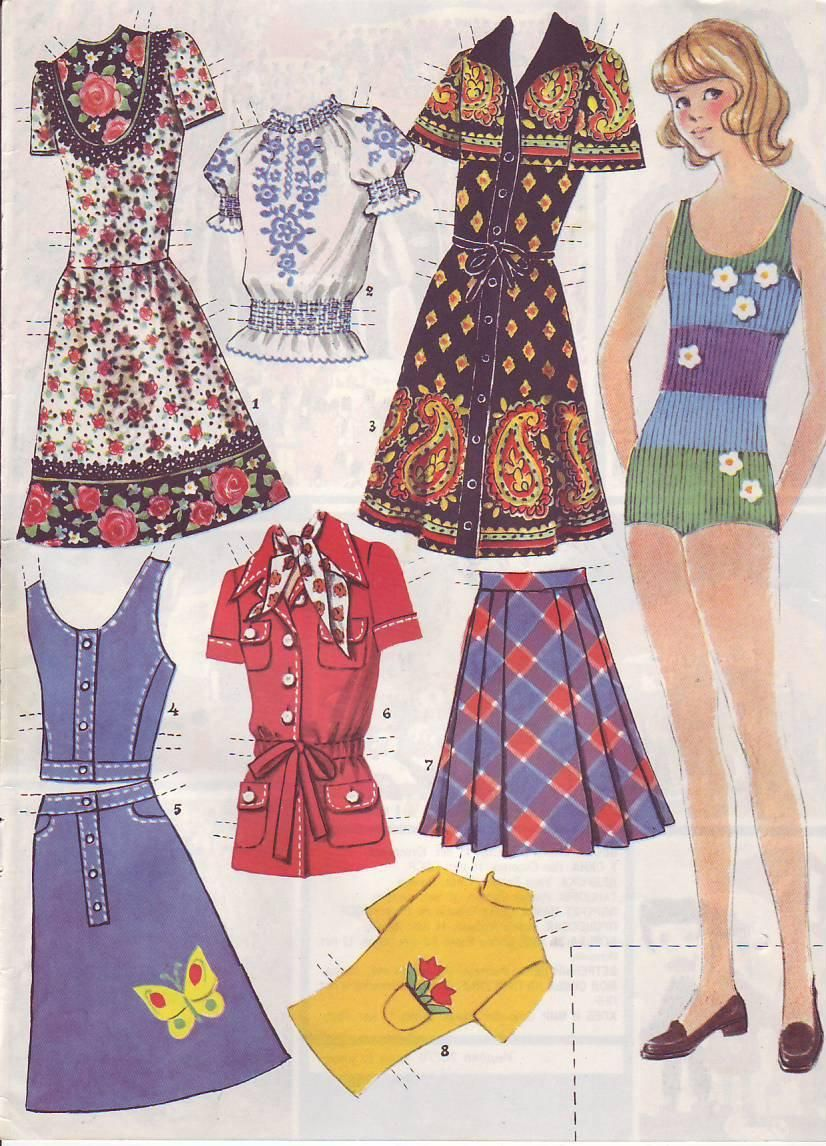 Rabotnitsa Paper Dolls from Russia, 1978-1982