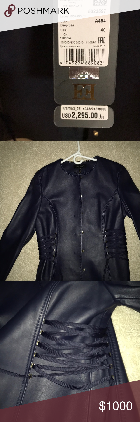 Beautiful Escada Leather Jacket Leather Jacket Jackets Escada Jacket [ 1740 x 580 Pixel ]