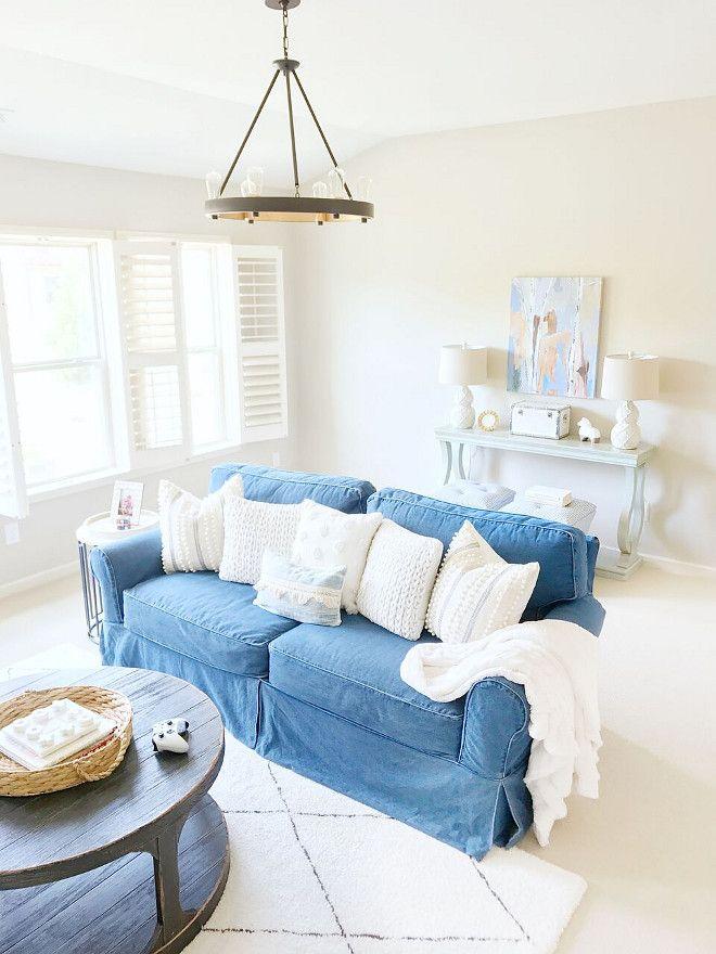 Beautiful Homes Of Instagram Denim Sofa Living Room Furnishings Living Room Throws