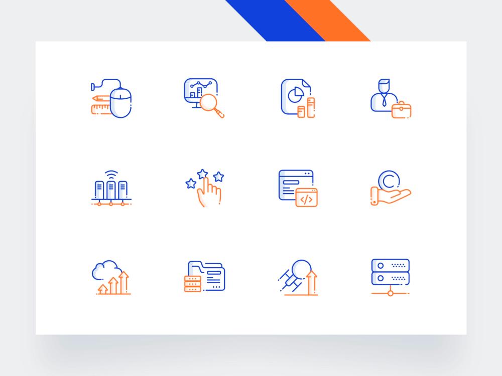Icon Set in 2020 Icon set, Icon set design, Icon