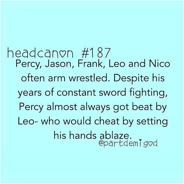 man, I bet Percy is prettttttttty ripped.