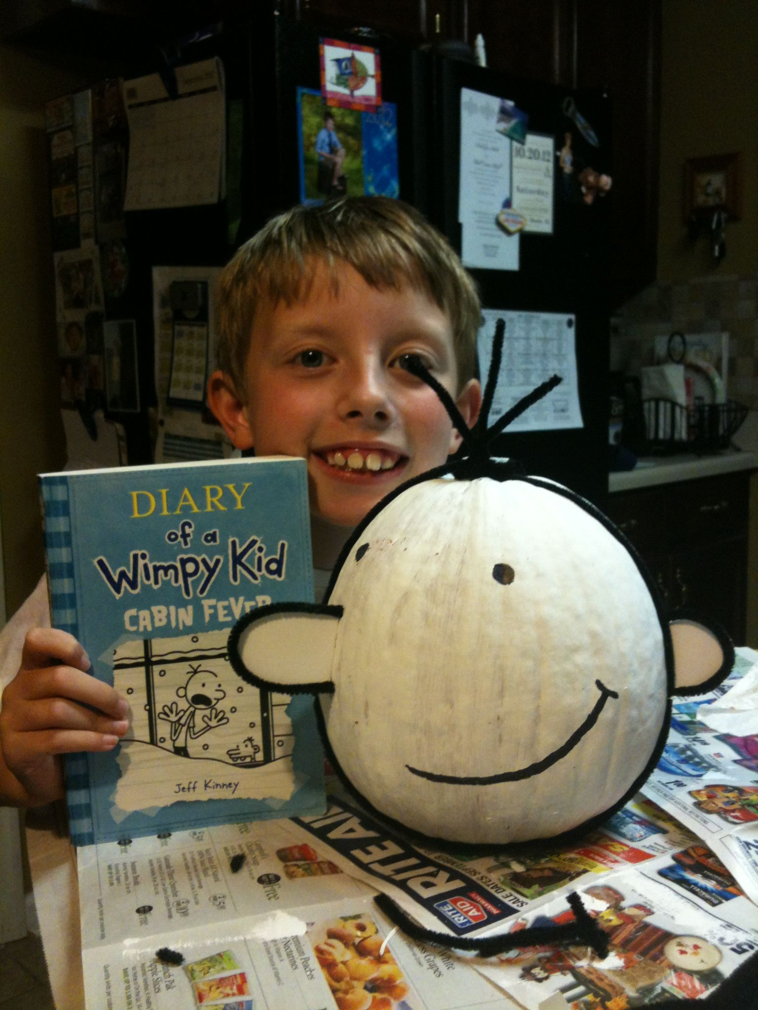 Supplies Needed To Paint A Room diary of a wimpy kid pumpkin - supplies needed: white acrylic