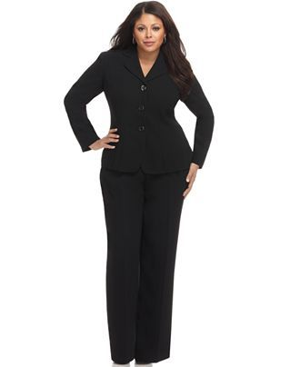 plus size work suits | BIG Girls in 2019 | Fashion, Plus size suits ...