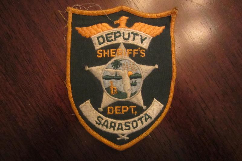 FLORIDA SHERIFF/'S DEPARTMENT DEPUTY PATCH. SARASOTA