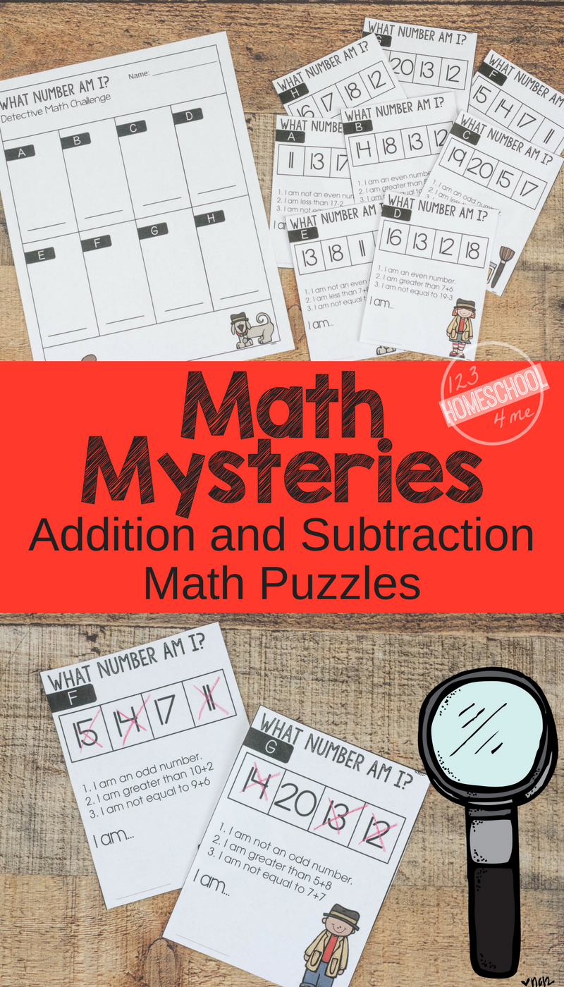 FREE Math Mysteries - FUN Addition and Subtraction Math Problems ...