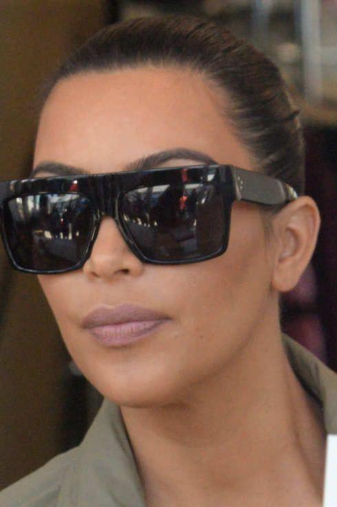 85c3737d4a0c Square Flat Top Black Frame Dark Lenses Women Celebrity Oversized Sunglasses  ZZ | eBay