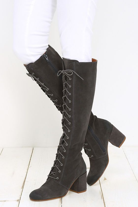 Knee High Boots | Suede lace