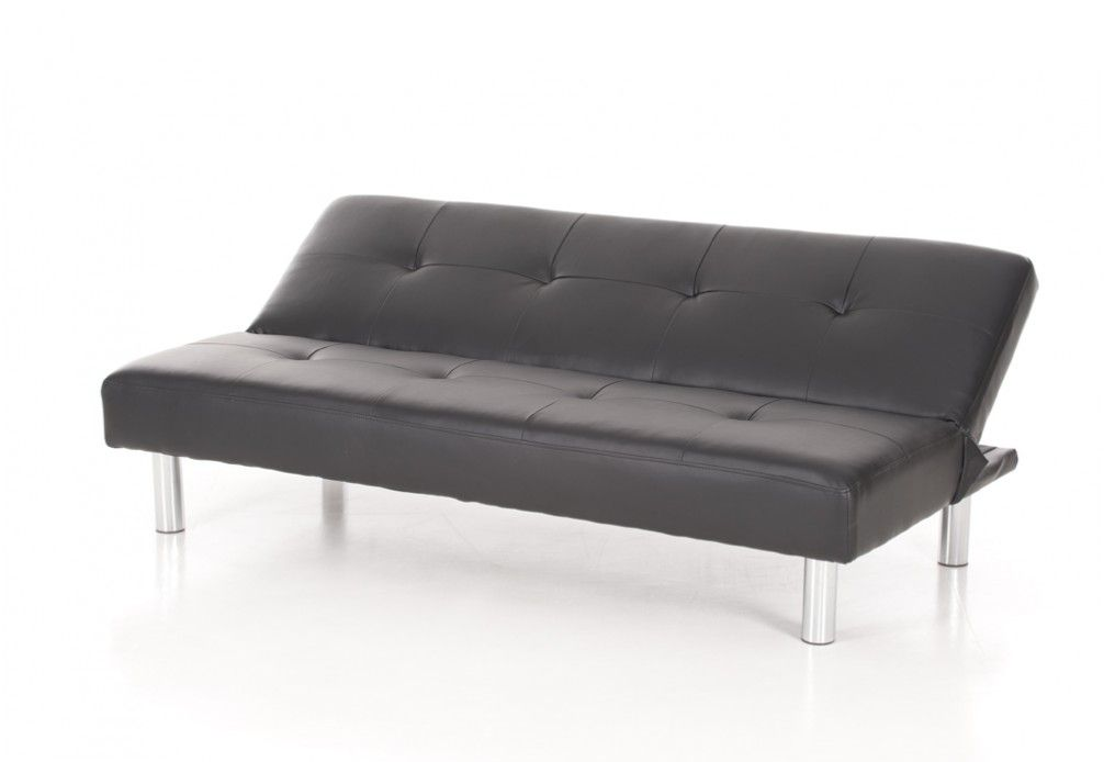 Lily Leather Look Click Clack Sofa Bed