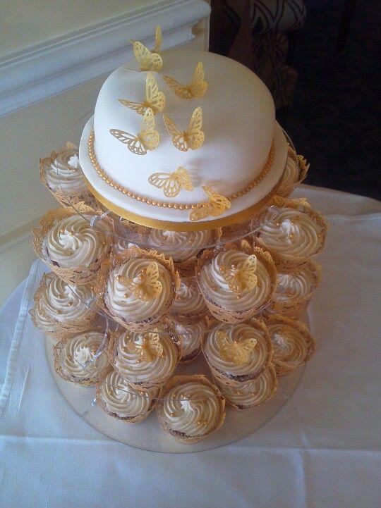Wedding Cake On Acryllic Stands