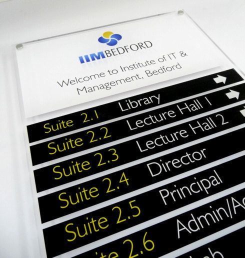 Directory Boards For Colleges Schools University Floor Level Signs With Room Listings Directory Signage Lobby Sign Directory Signs