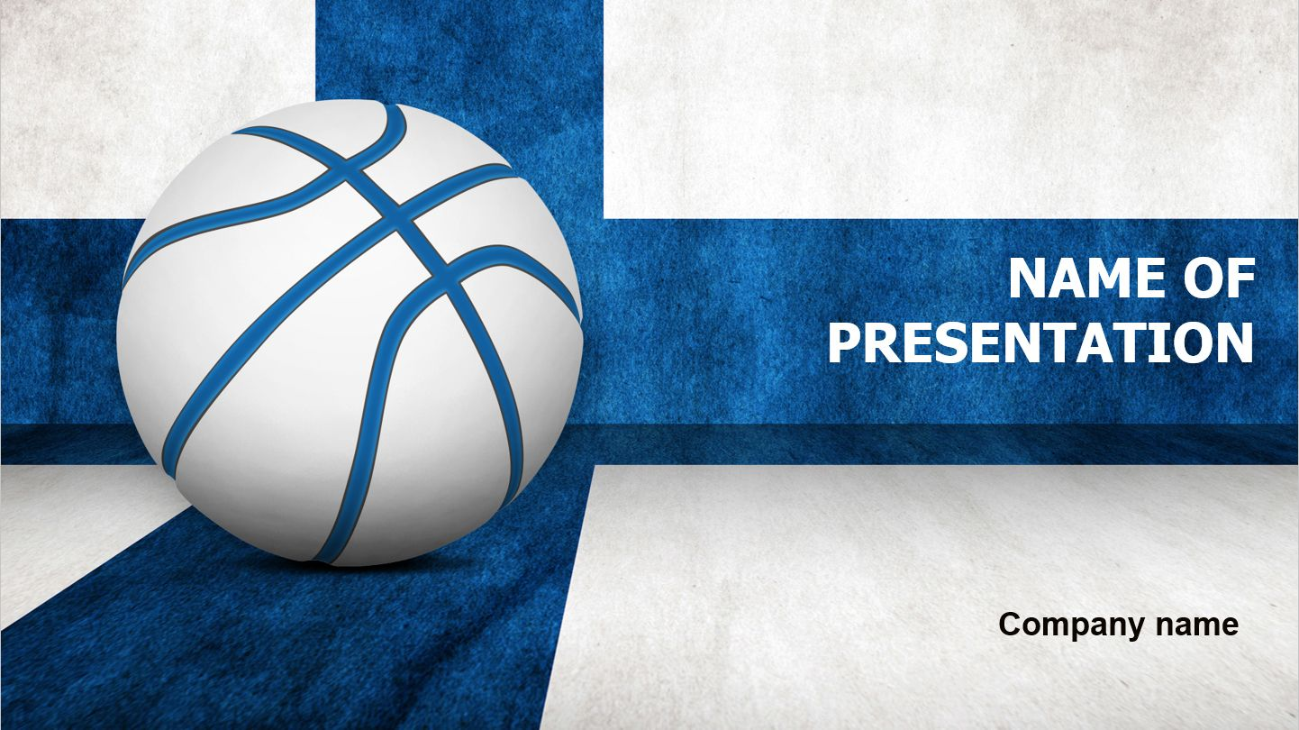 Finland Basketball Ball Powerpoint Presentation Template This