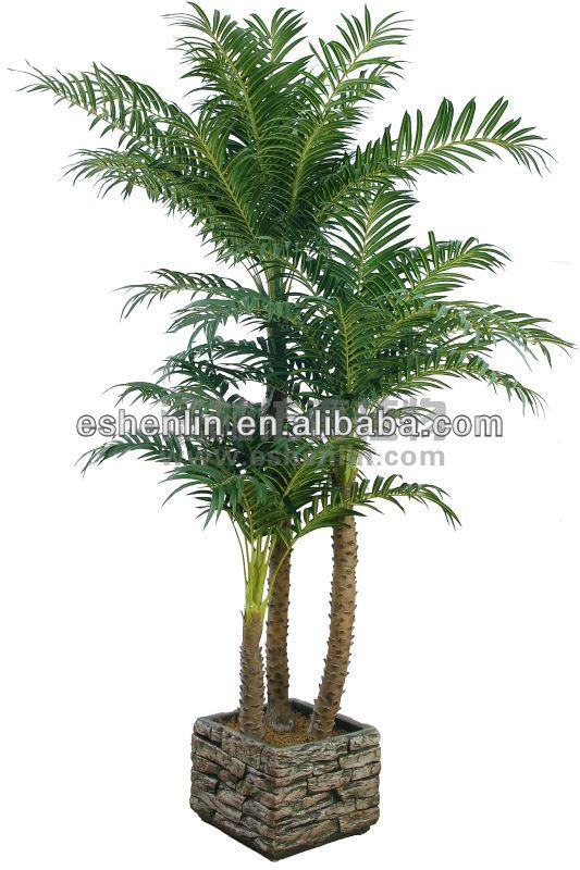 Real Looking 9 Ft Sago Silk Palm Tree Plant Artificial Tropical ...