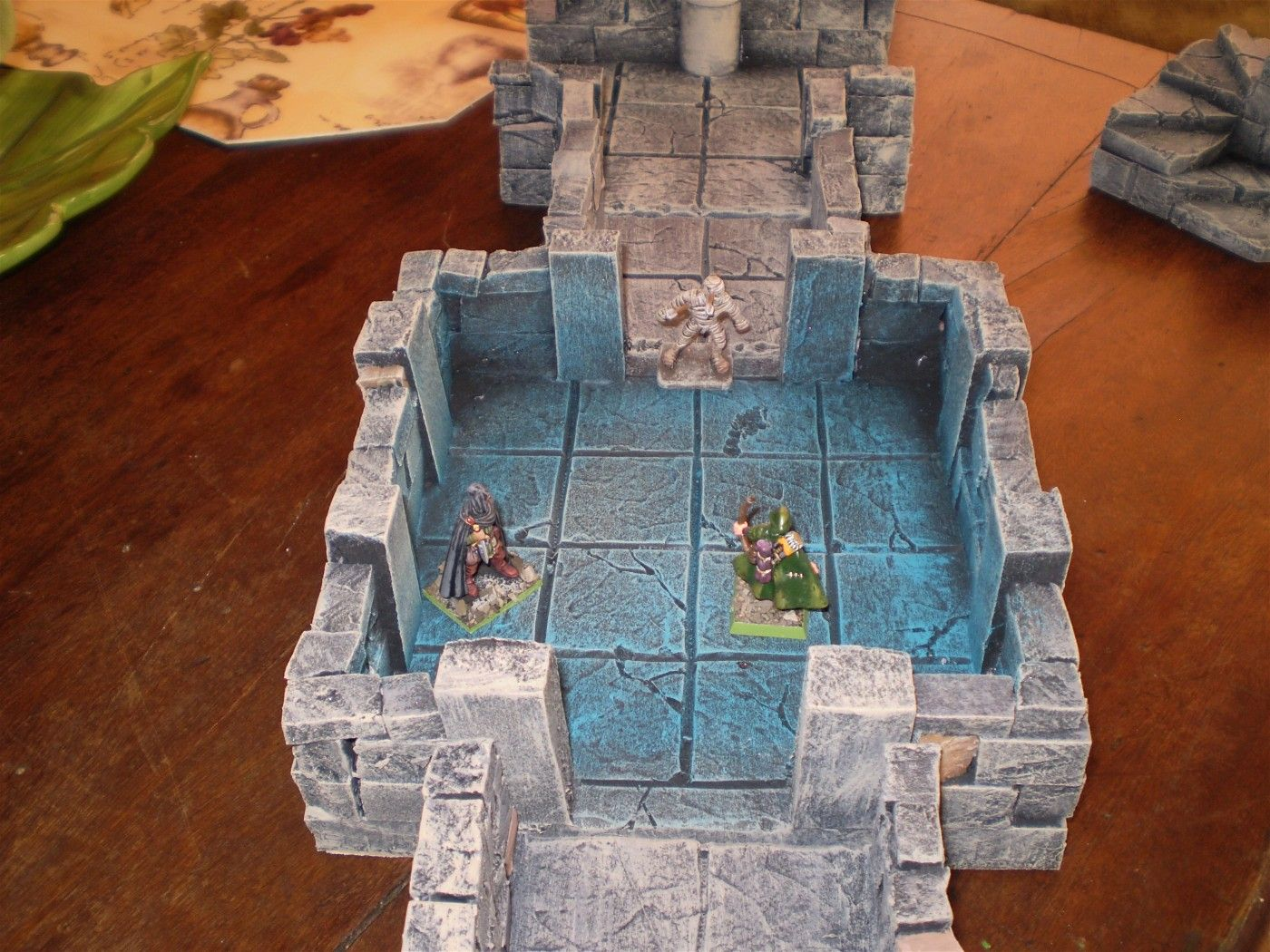 Amazing dungeon terrain made from insulation foam! Upside