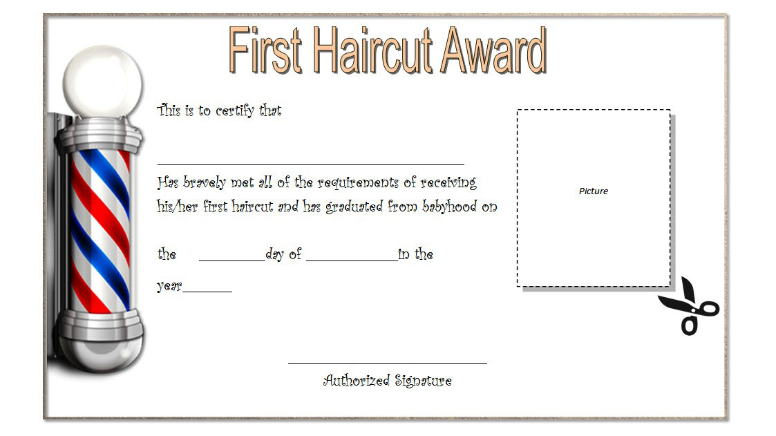 Babys First Haircut Certificate Template Free 3 Baby S First Haircut First Haircut Baby Boy First Haircut