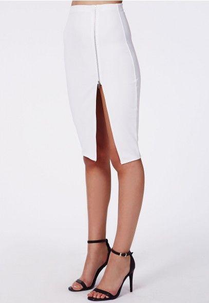 ec23b27b7ed Alyx Zip Side Split Midi Skirt - Midi Skirts - Missguided ...