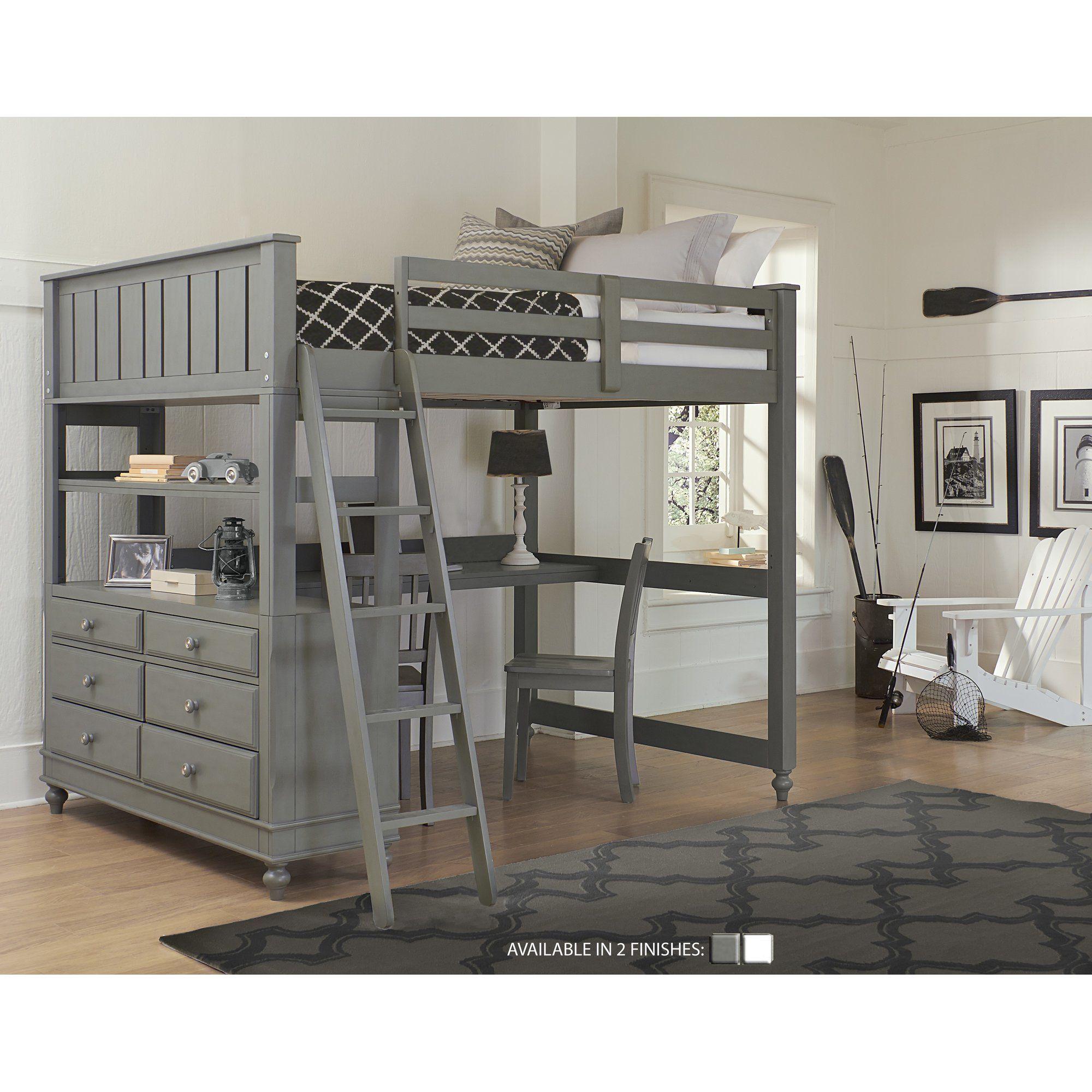 3 bedroom loft  Viv  Rae Jaime Lake House  Piece Loft Bed Set u Reviews  Wayfair