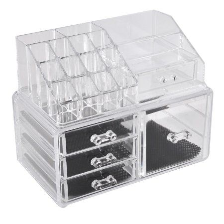 Unique Bargains Lady Acrylic Cosmetic Storage Case Display Box