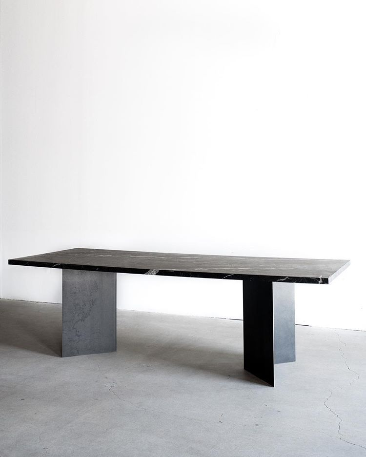 Parker Dining Table In Black Marble Los Angeles