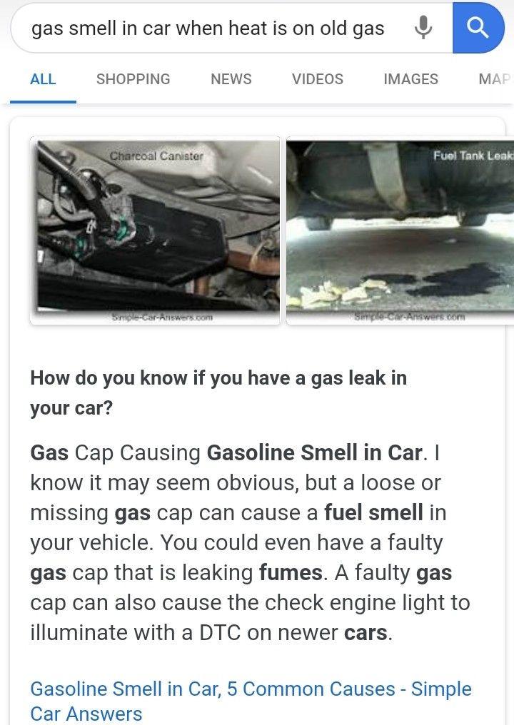 Gas smell in car Helpful hints, Car, Gas