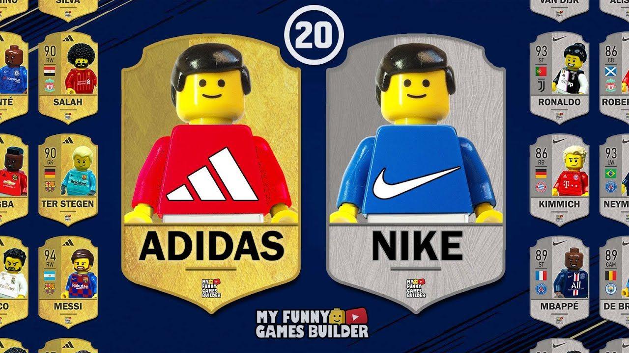 No es suficiente cojo periodista  Team ADIDAS vs Team NIKE in Lego • FIFA 20 All Stars in Lego Football Film    Lego football, Fifa 20, Fifa