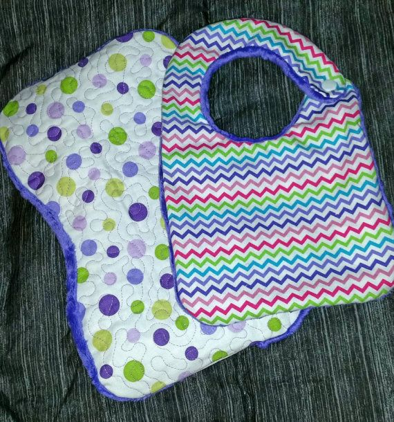 Baby Girl Gift Set  Polka Dots and Chevron by LittleTexasBabes