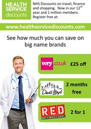 health service discounts poster
