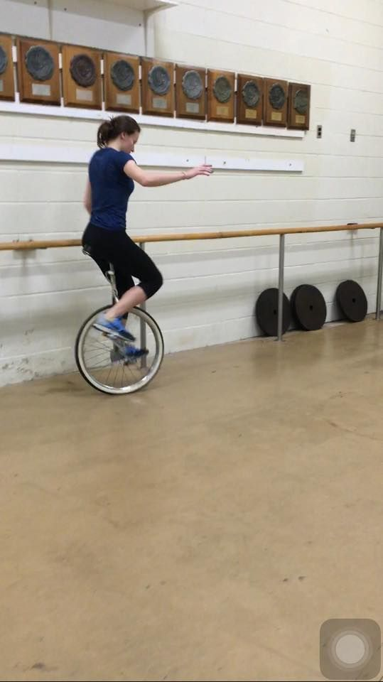 On My Way To Learning To Ride A Unicycle Unicycle Stationary Bike Bike