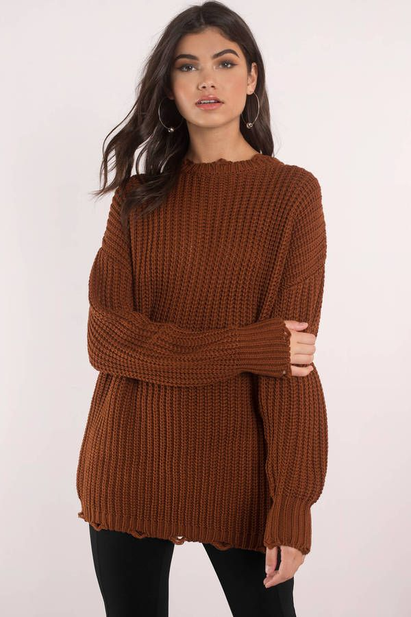 Moon River Moon River Leslie Brown Oversized Sweater | Wish List ...