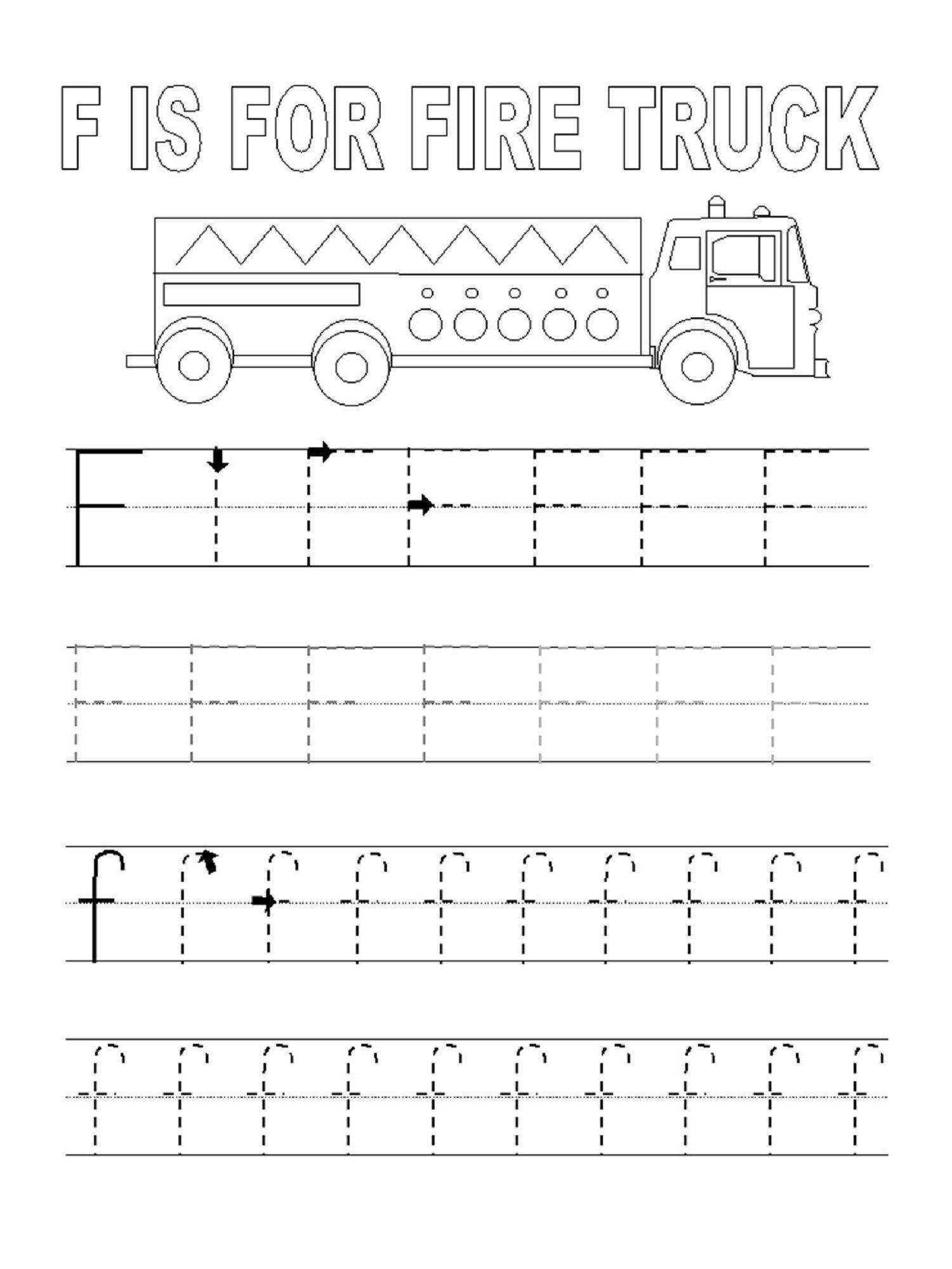 Letter F Worksheet For Letter Learning