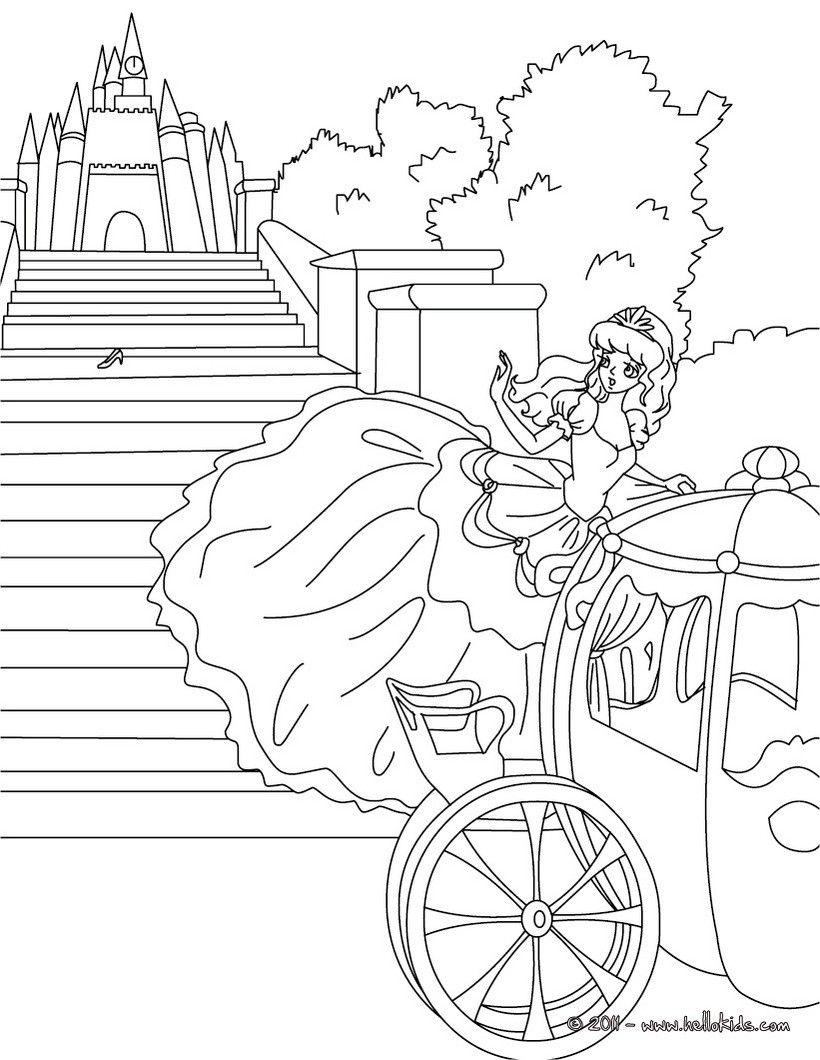 Cinderella Non Disney Coloring Page Sprookjes Assepoester Kleuren