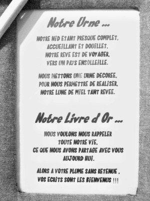 Pour Annoncer L Urne Et Le Livre D Or En 2019 Texte