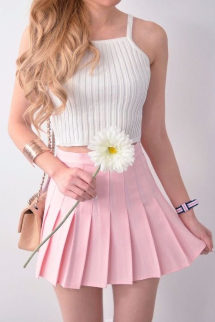 Insanely Affordable Tennis Skirts You Need Asap Styling Ideas In 2020 Pink Skirt Outfits Girly Outfits Fashion