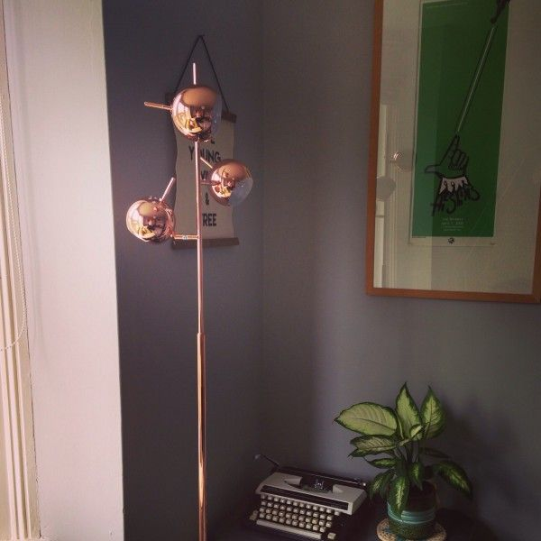 Austin Copper Floor Lamp in MADE customer\'s home. made.com/unboxed ...
