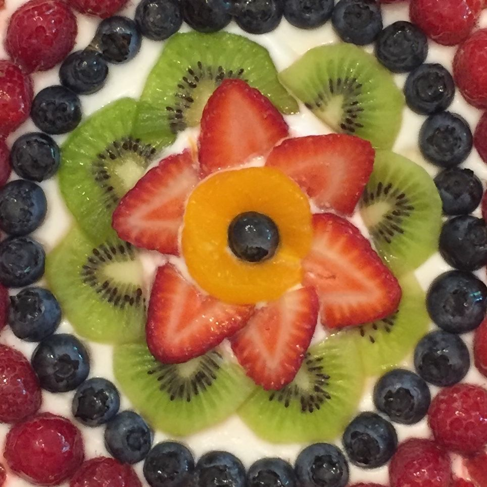 Detail of Memorial Day Fruit Pizza. by Sarah DiGloria