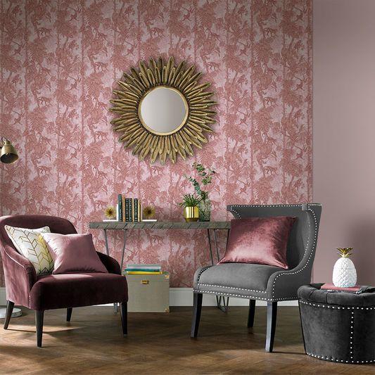 Ubud Blush Wallpaper   Graham & Brown UK   Pink and grey   Pinterest ...