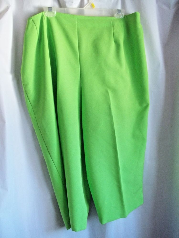 """Woman's Pedal Pushers 38"""" 42"""" Waist X Large Lime Green"""