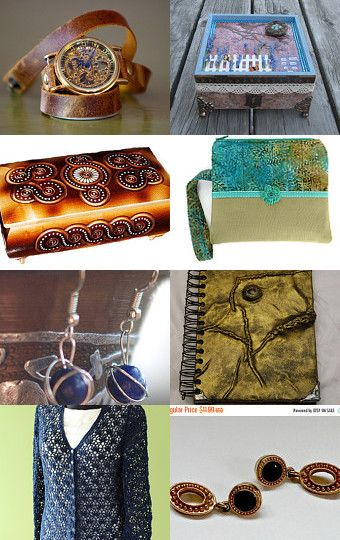 Blue and Gold by Susan Anderson on Etsy--Pinned with TreasuryPin.com