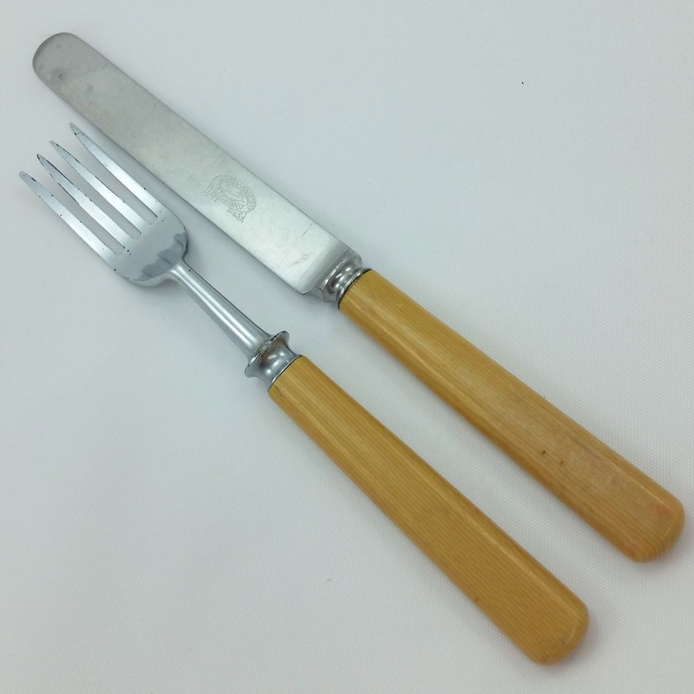 Vintage Lamson Goodnow Stainproof Knife Fork Stainless